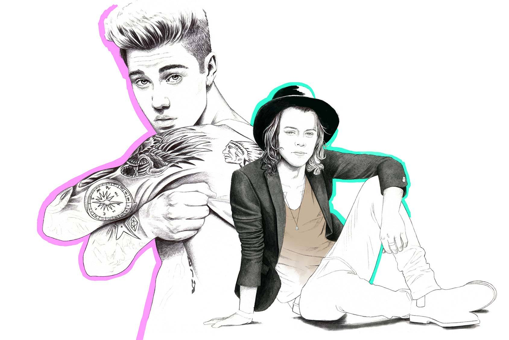 Justin Bieber, the new member of One Direction? By Florian Meacci.