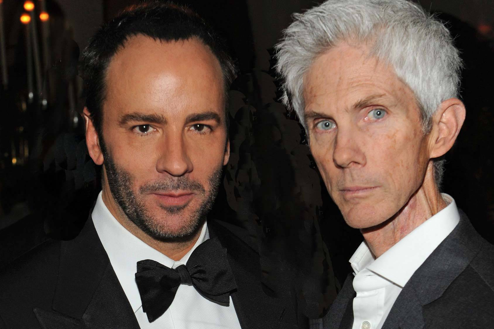 Fashion power couple Tom Ford and Richard Buckley, Getty Images.