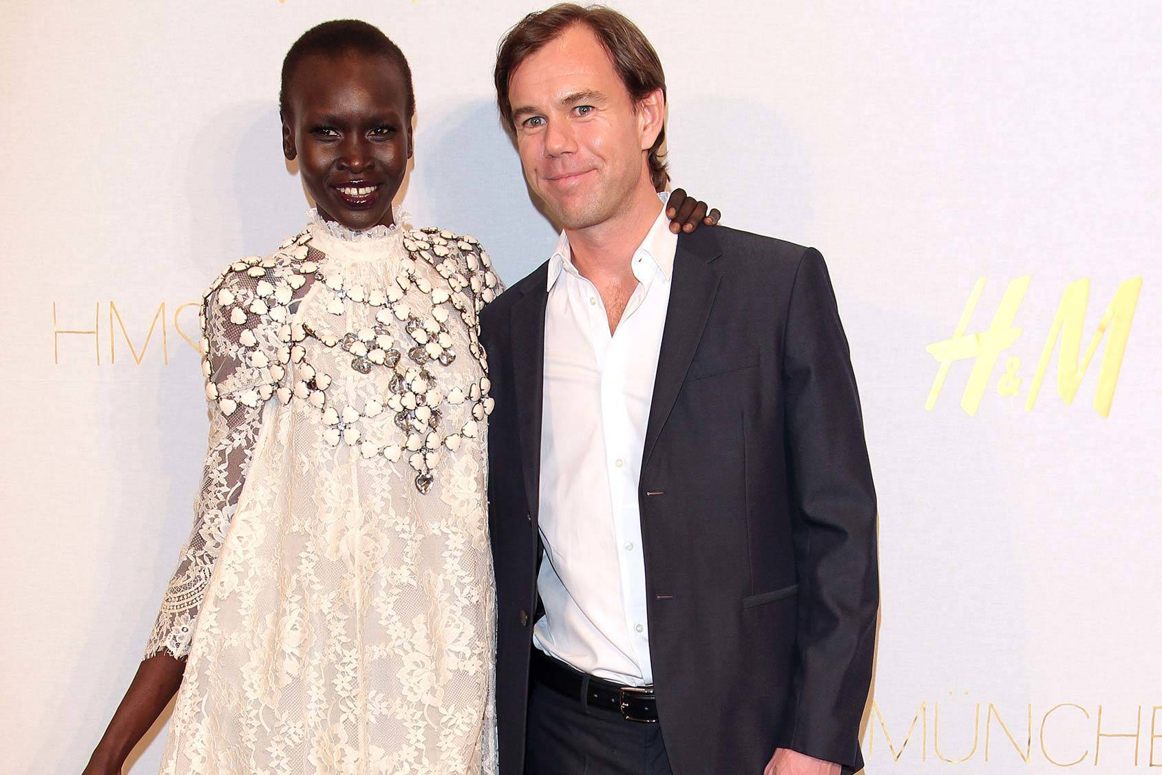 Alek Wek and CEO of H&M Karl-Johan Persson, Getty Images.
