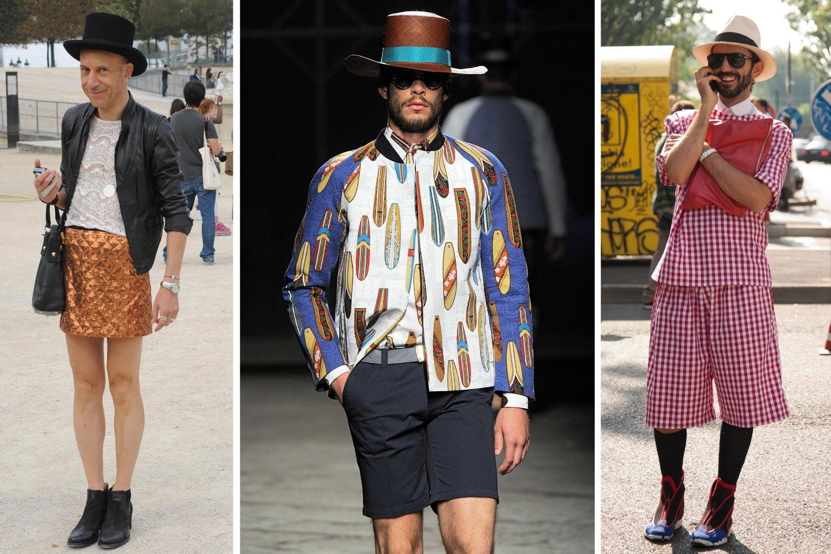 Street style fashion from Paris and Milan and Stella Jean Spring/summer 2014 on the catwalk at the Pitti Uomo fair in Florence, All Over Press.
