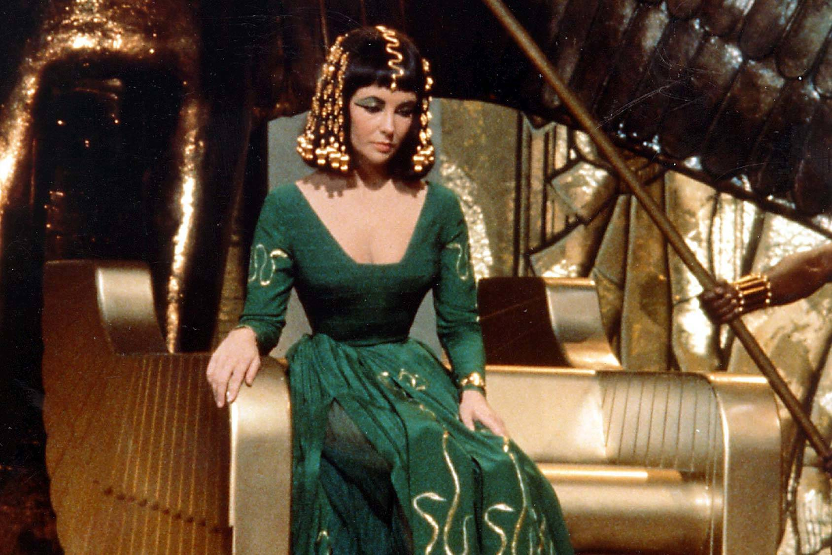 Elizabeth Taylor as Cleopatra in the epic film from 1963, All Over Press.