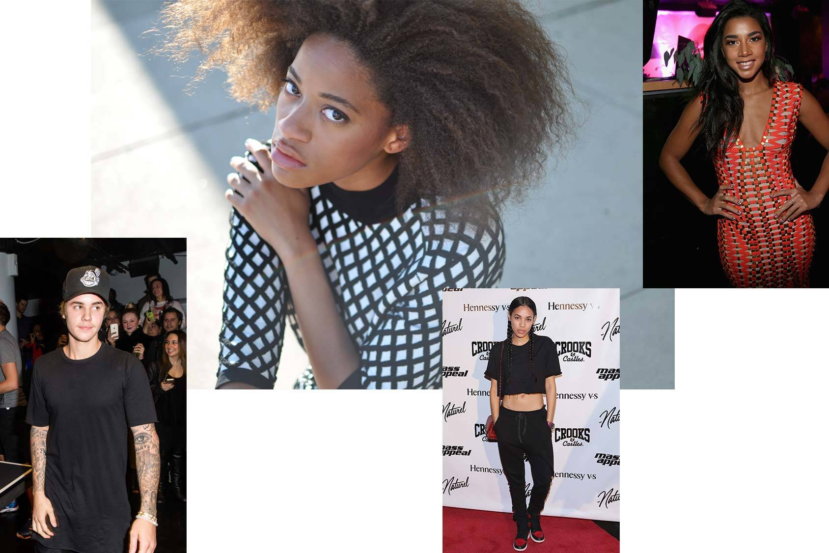 Kilo Kish follows Justin Bieber, Aleali May and Hannah Bronfman, Getty Images/Phillip T. Annand.