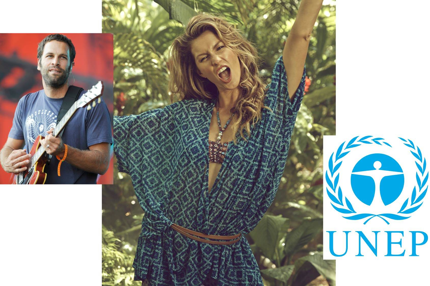 Gisele follows Jack Johnson on Spotify and the UNEP blog, All Over Press.