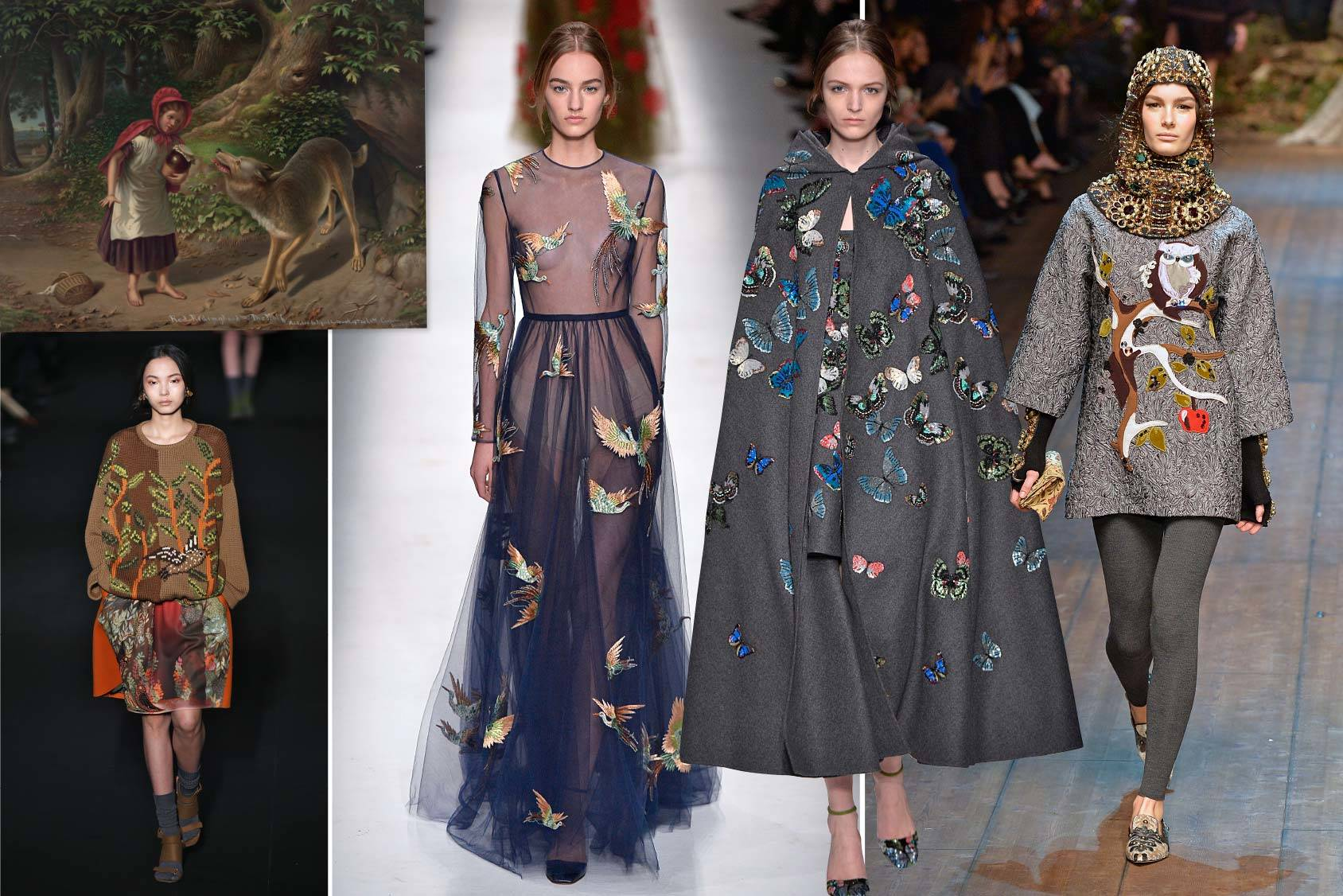 Alberta Ferretti and Valentino, Fall/Winter 2014 take on the fairy tales this season, All Over Press.