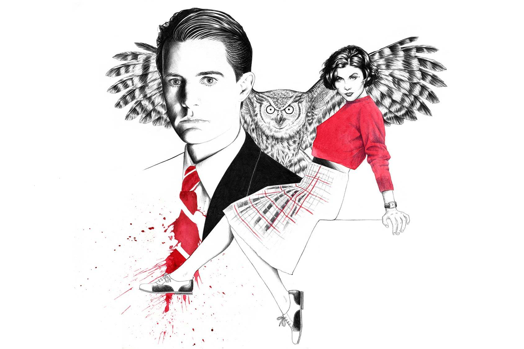 Special Agent Dale Cooper and Audrey Horne by Florian Meacci.