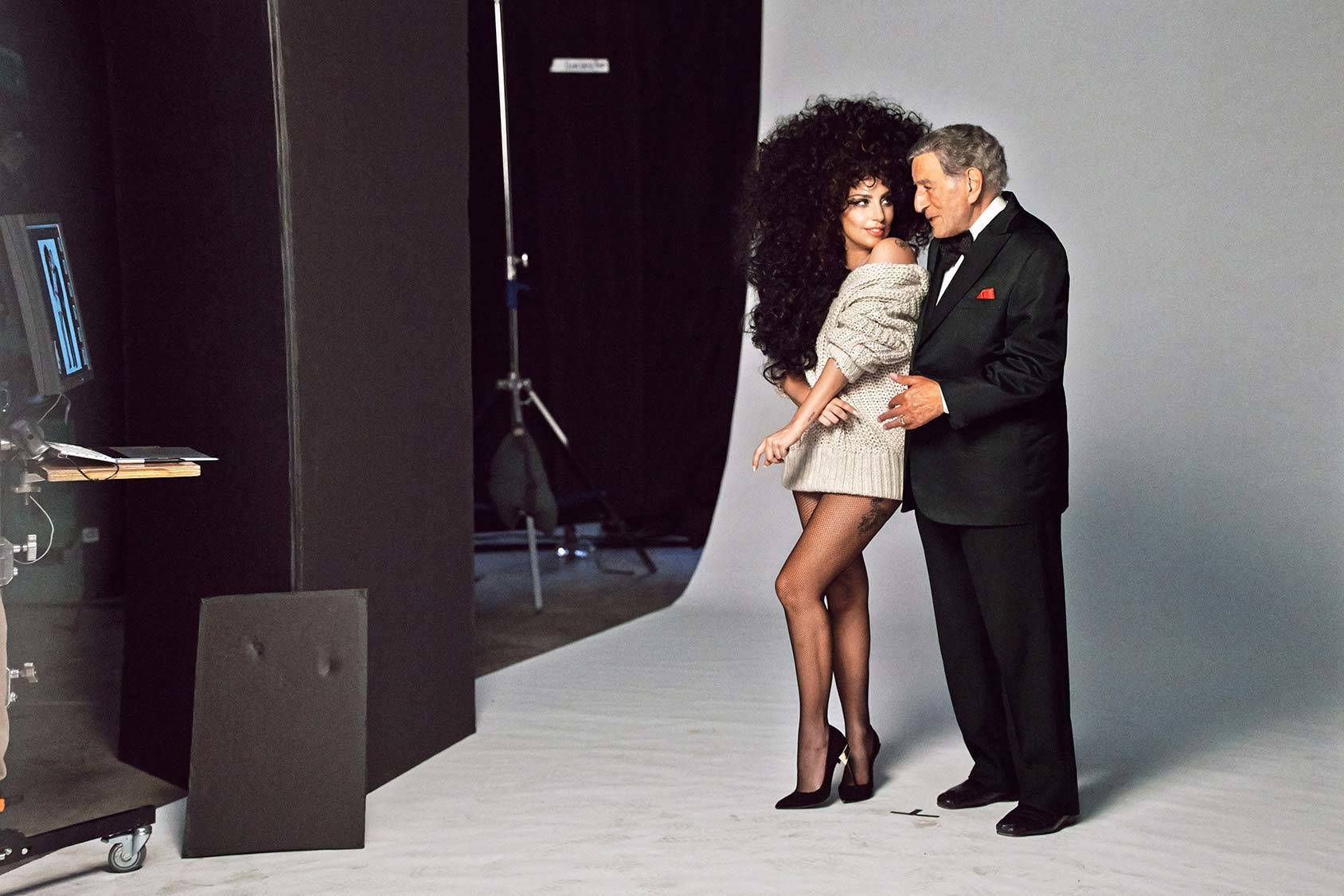 Tony Bennett and Lady Gaga in H&M's holiday campaign for 2014.