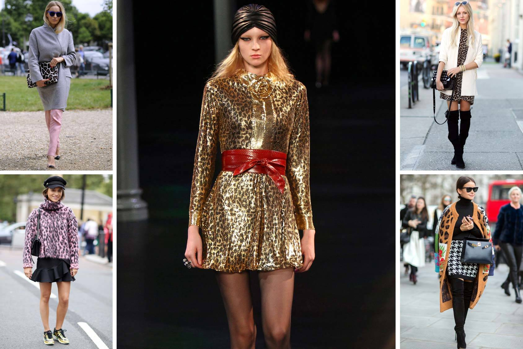 Leopard prints on Saint Laurent spring/summer 2014, and from the streets of Paris, London and New York, All Over Press.