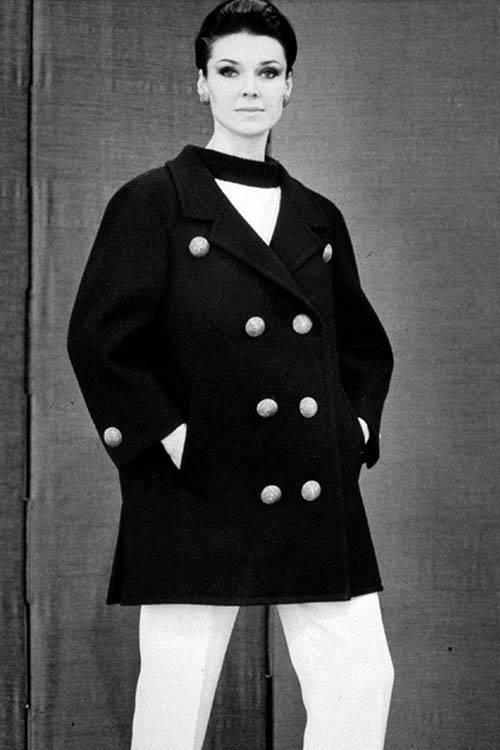 The YSL version of the peacoat from 1962, TT