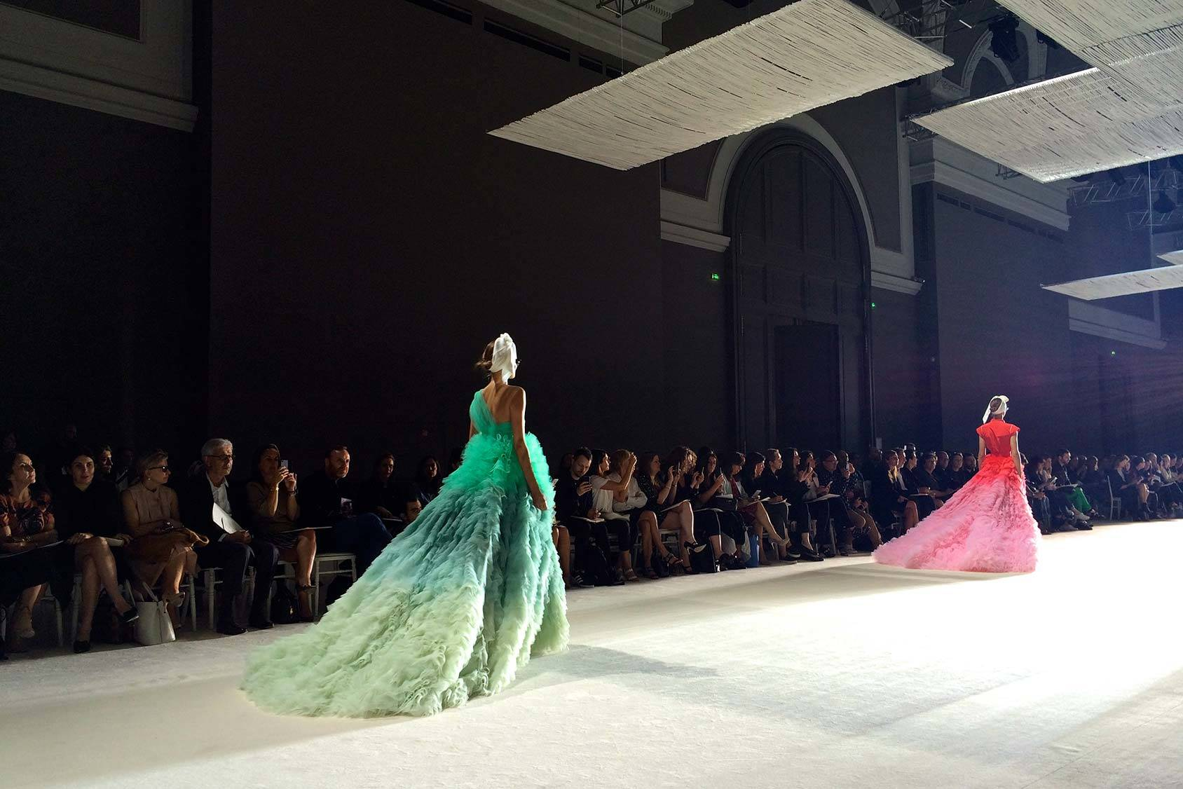 Gowns at Giambattista Valli Haute Couture.