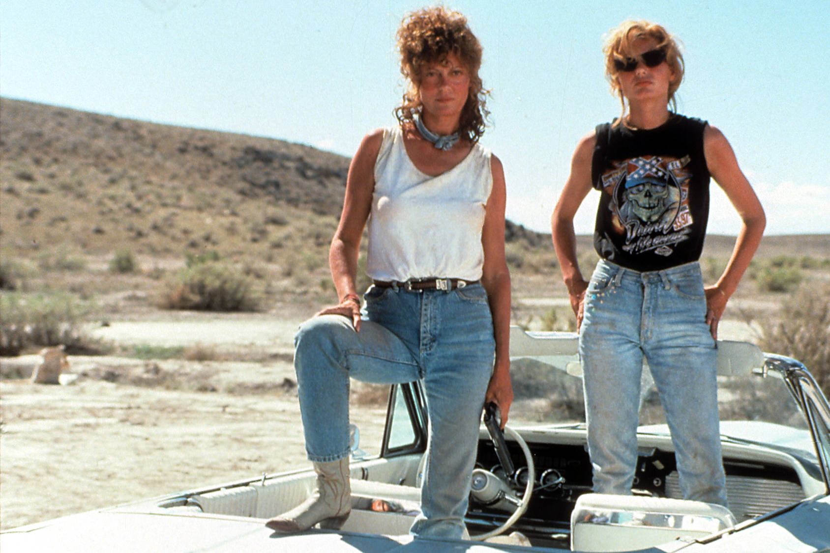 90's rebels Thelma and Louise, Getty Images.