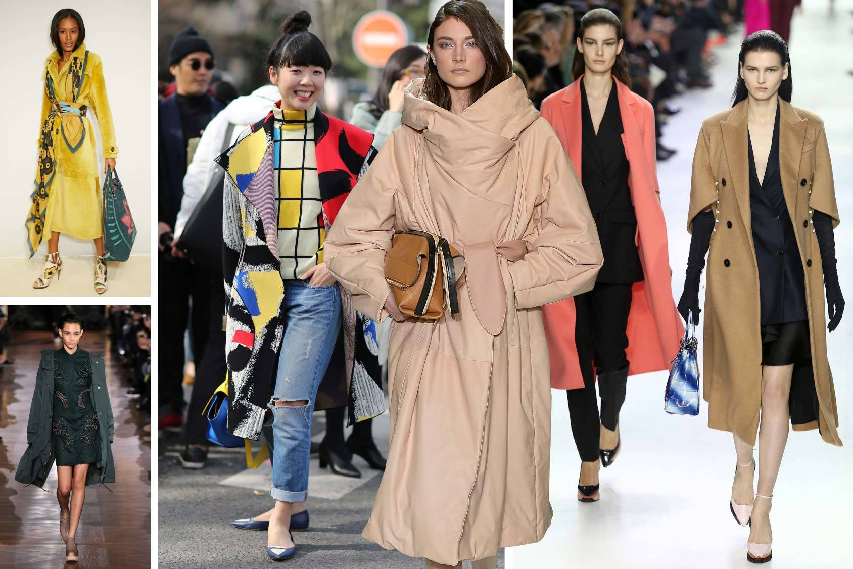 Burberry, Stella McCartney, Chloé and Dior Fall/Winter 2014 and blogger Susie Bubble in this season's coats, All Over Press.