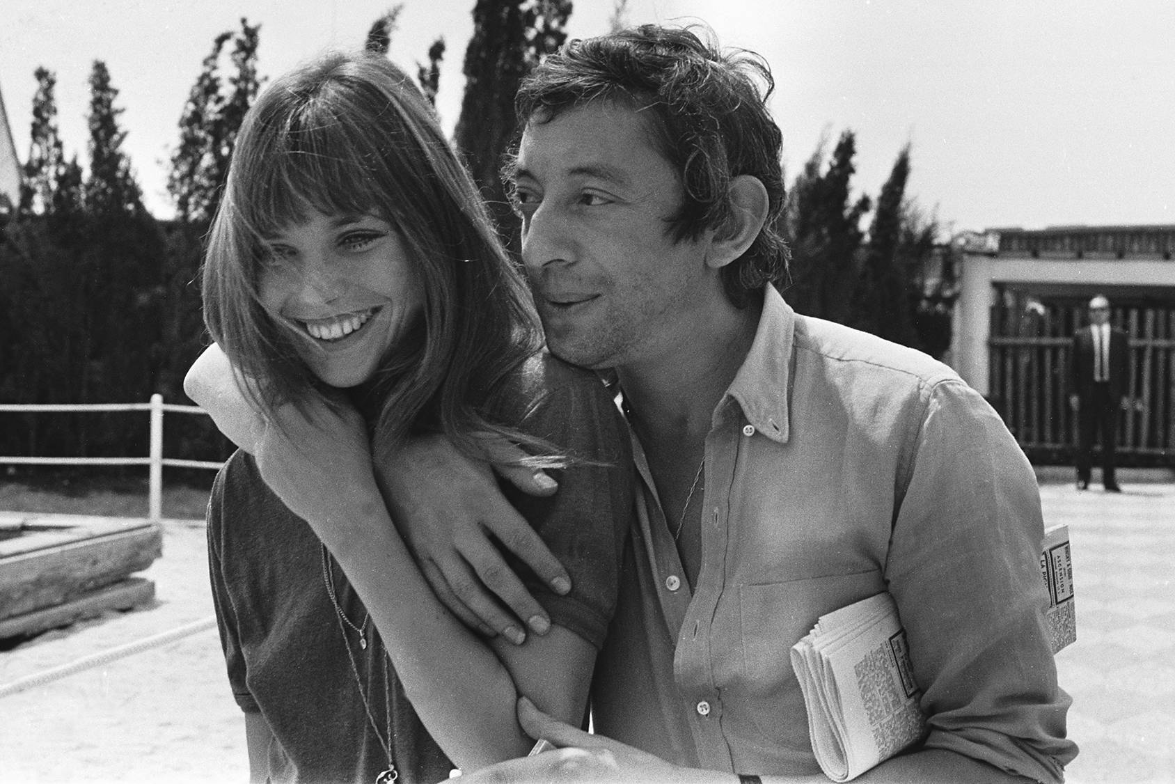 Fashionable and in love, Jane Birkin and Serge Gainsbourg, Getty Images.