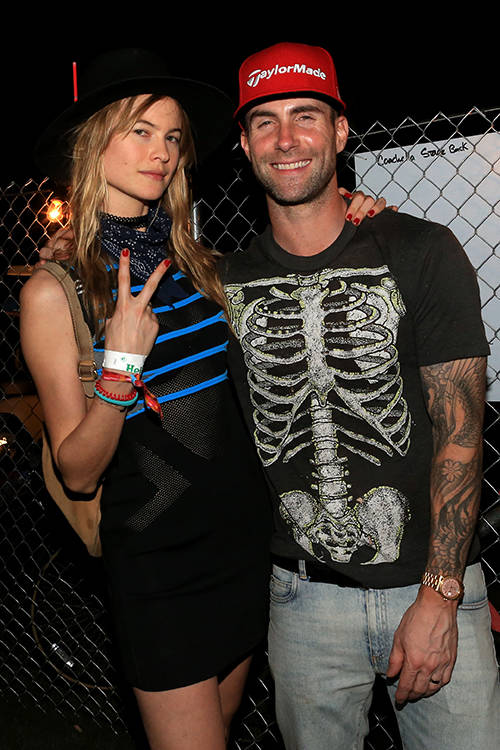 Behati Prinsloo and husband Adam Levine, Getty Images.