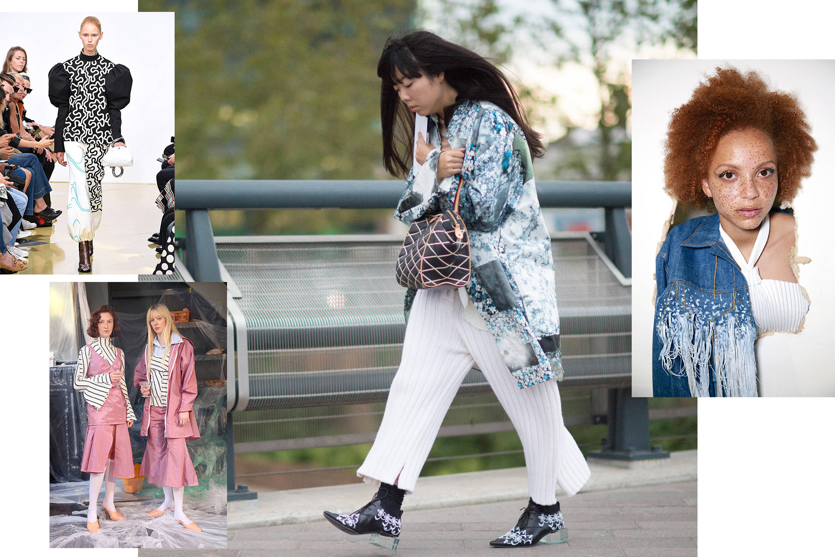 Susie Bubble gives us the front row report from shows like J.W. Anderson, Richard Malone and Faustine Steinmetz, Getty Images/All Over Press.