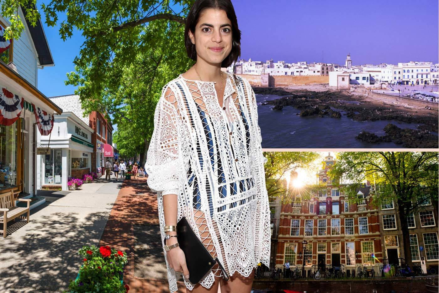 Leandra Medine gives us her hot spots for this summer: Southampton, Essaouira and Amsterdam, All Over Press/Getty Images.