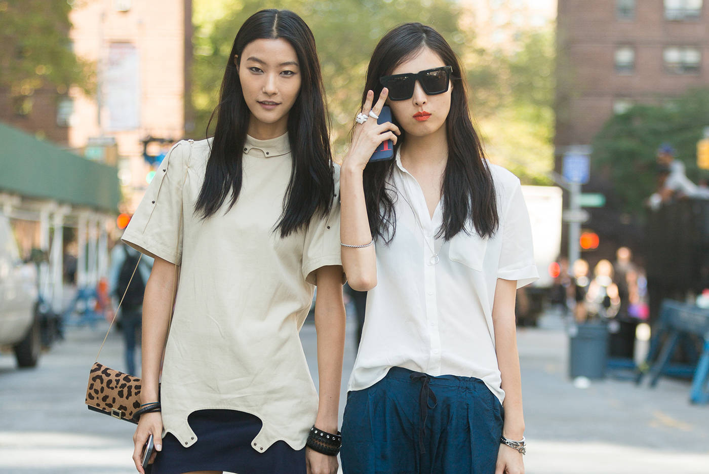 Korean models JiHye Park and Sung Hee Kim at New York Fashion Week, Getty Images.