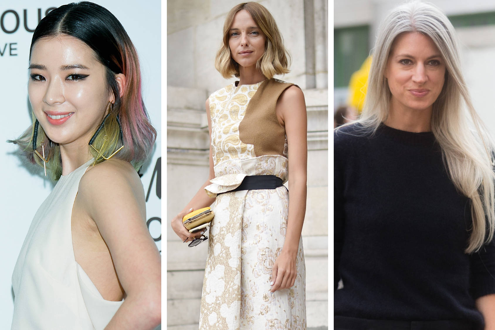 Look to Irene Kim, Candela Novembre and Sarah Harris for some new hair inspiration, Getty Images.