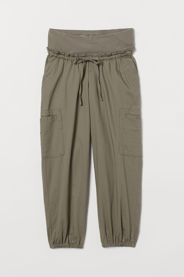 H & M - MAMA 七分工作褲 - 綠色