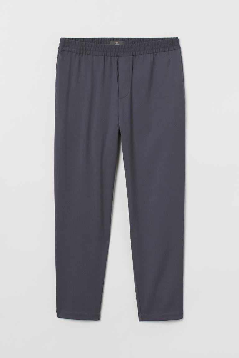 H & M - 合身九分慢跑褲 - 藍色