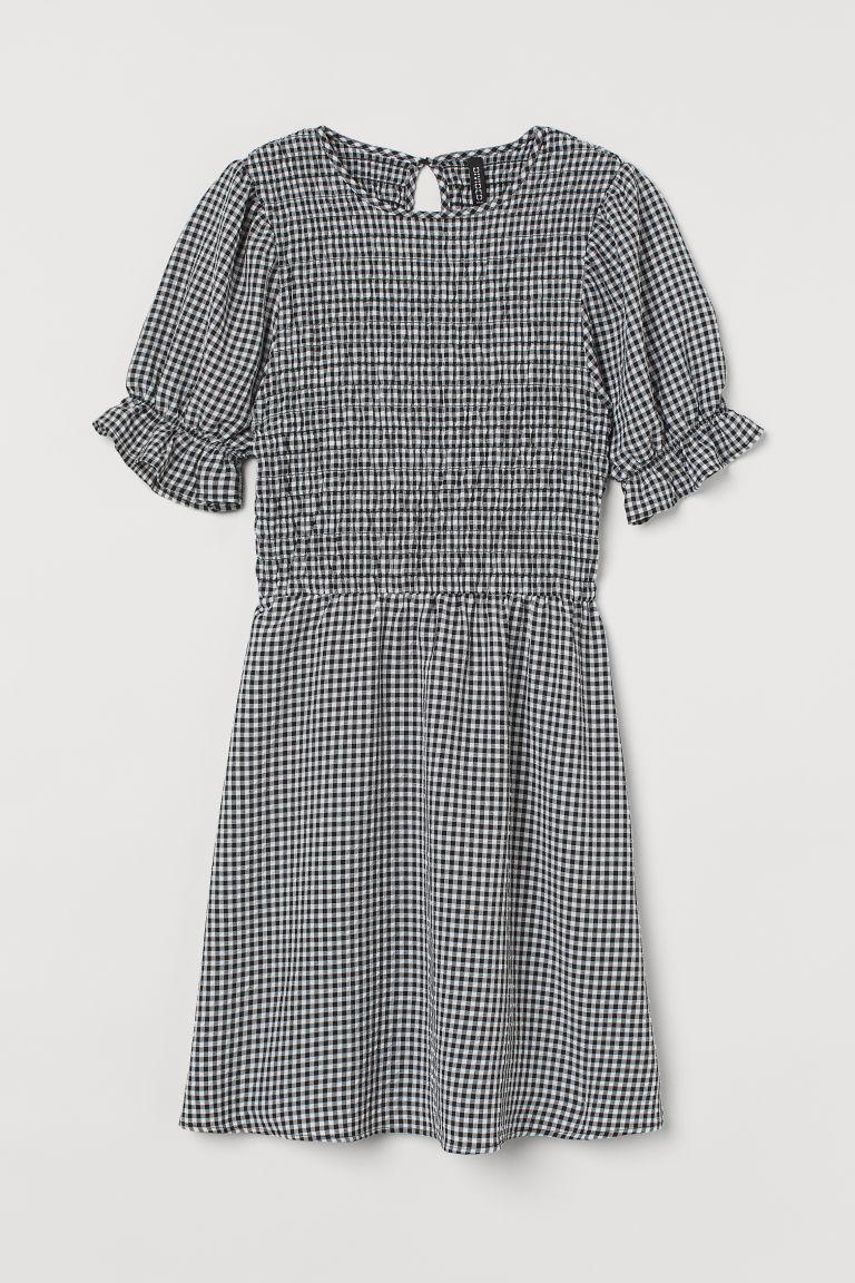 H & M - 縮褶胸衣洋裝 - 黑色