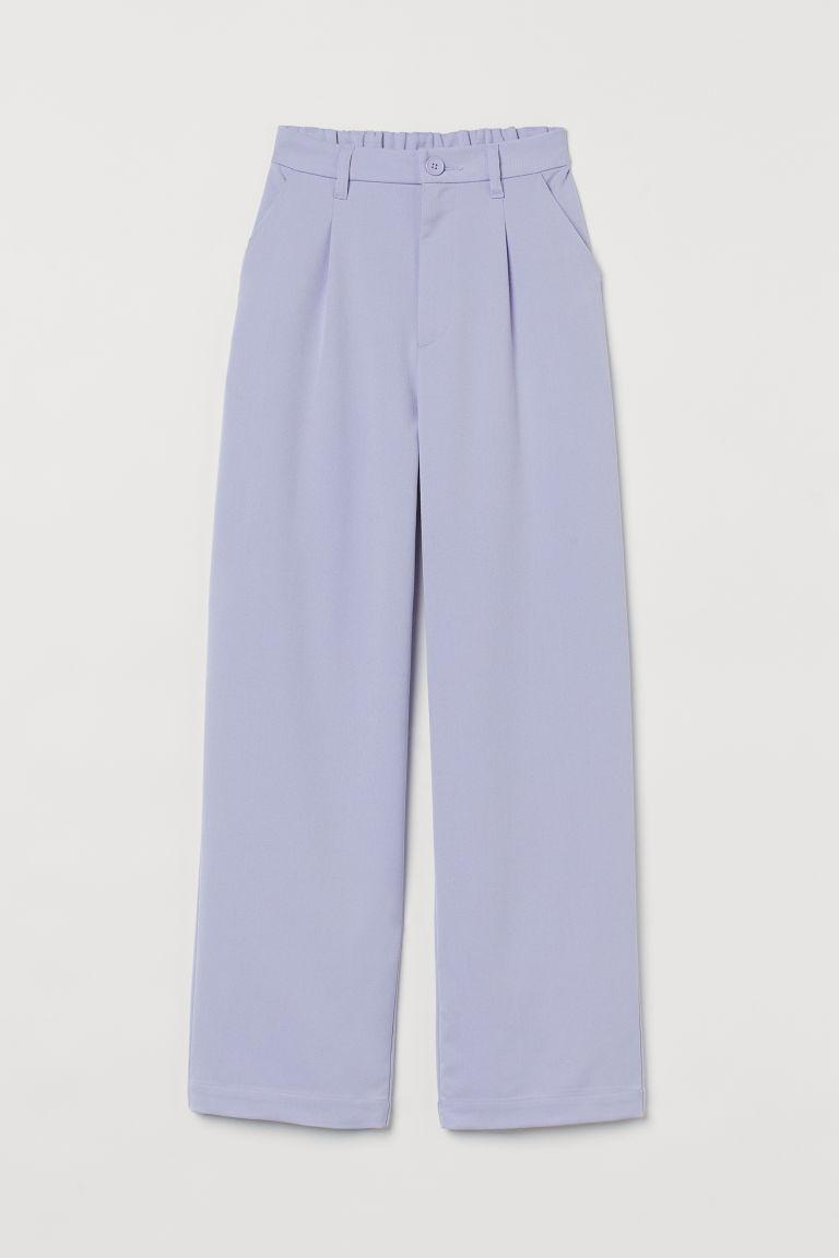 H & M - 寬管褲 - 紫色