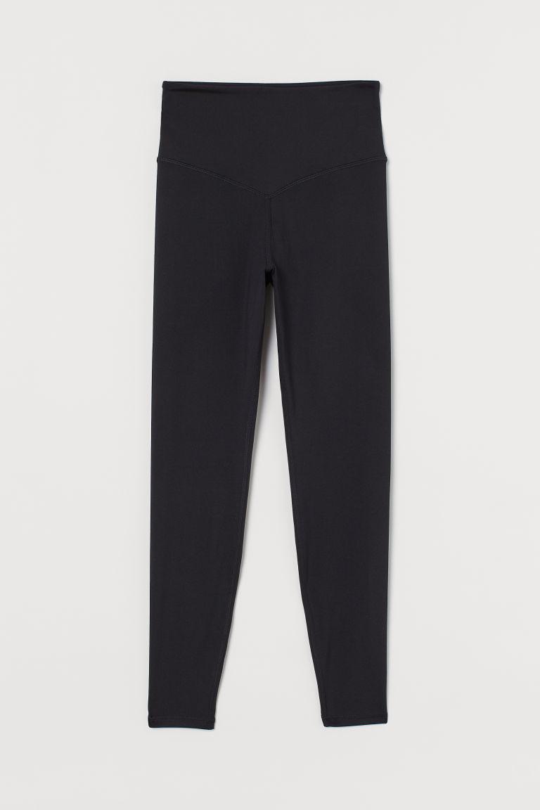 H & M - 超高腰緊身褲 - 黑色