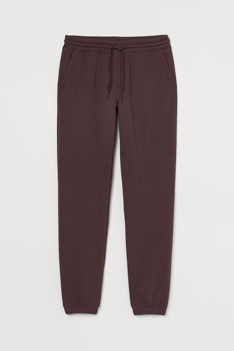 H & M - 慢跑褲 - 褐色