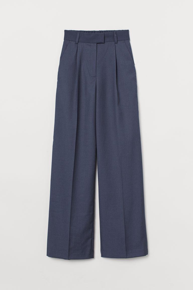 H & M - 寬管褲 - 藍色