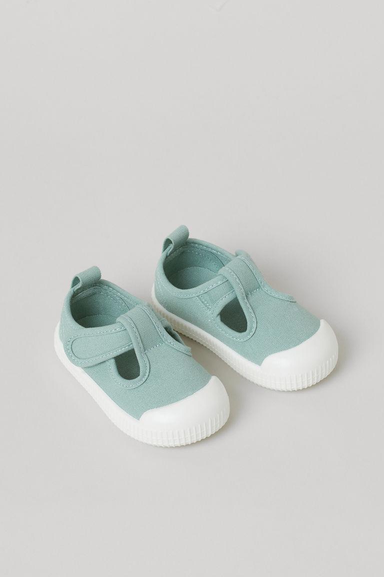 H & M - 棉質帆布涼鞋 - 綠色