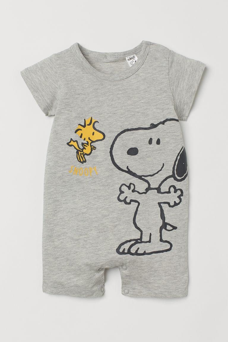 H & M - 圖案連身睡衣 - 灰色