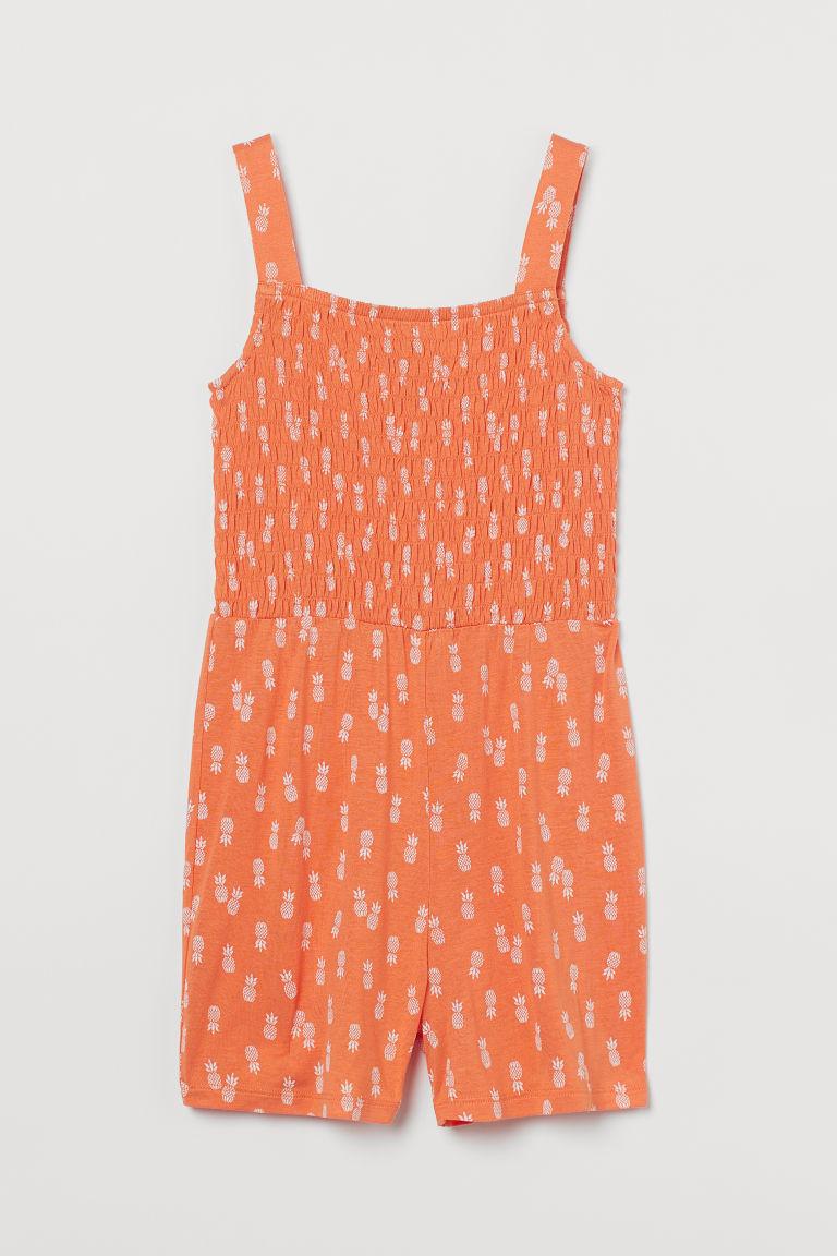 H & M - 縮褶連身褲裝 - 橙色