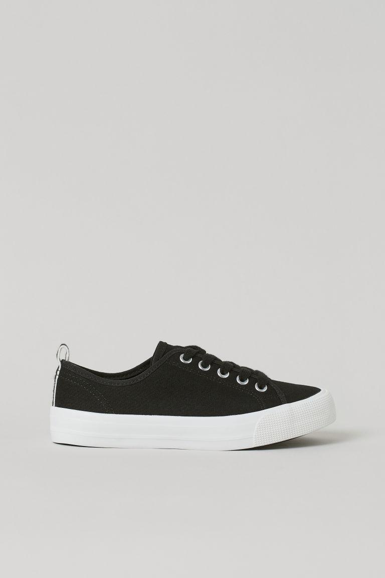 H & M - 帆布鞋 - 黑色