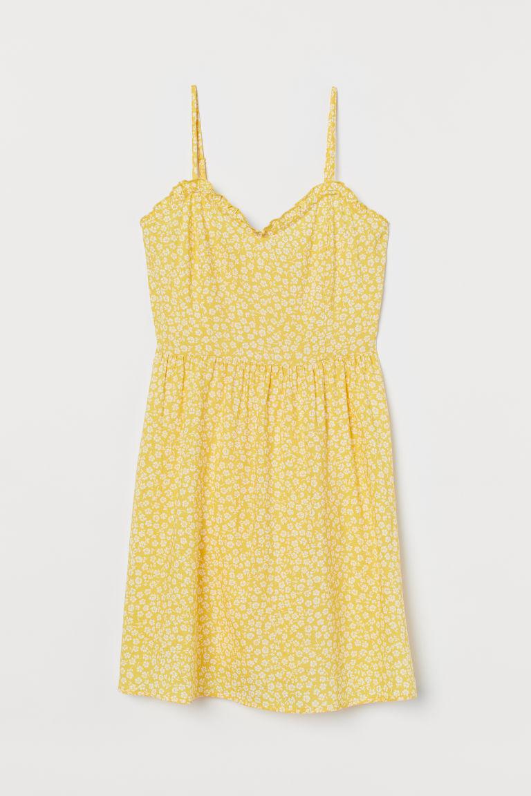 H & M - 細肩帶洋裝 - 黃色