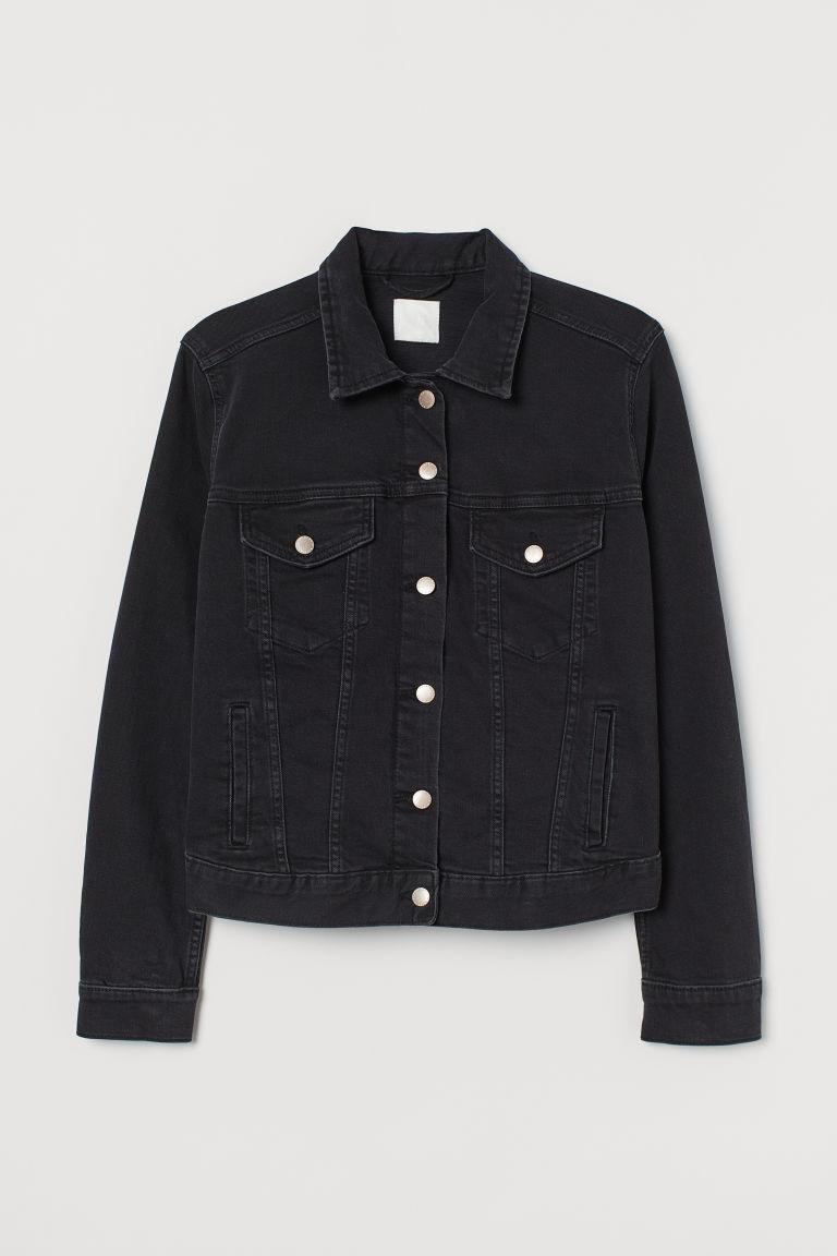 H & M - H & M+ 丹寧外套 - 黑色