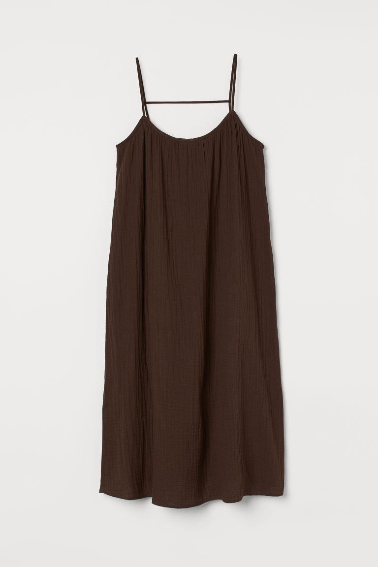 H & M - 開衩洋裝 - 褐色