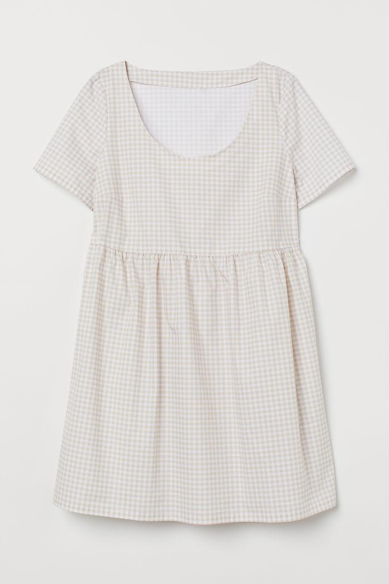 H & M - H & M+ 短洋裝 - 米黃色