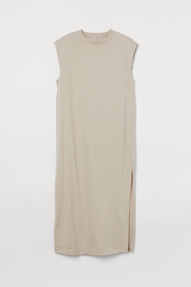 H & M - 無袖棉質洋裝 - 褐色