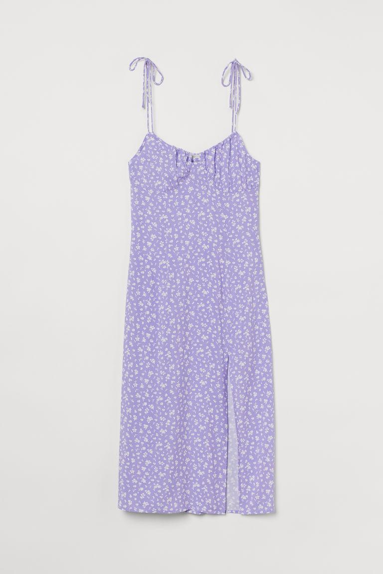 H & M - 開衩洋裝 - 紫色