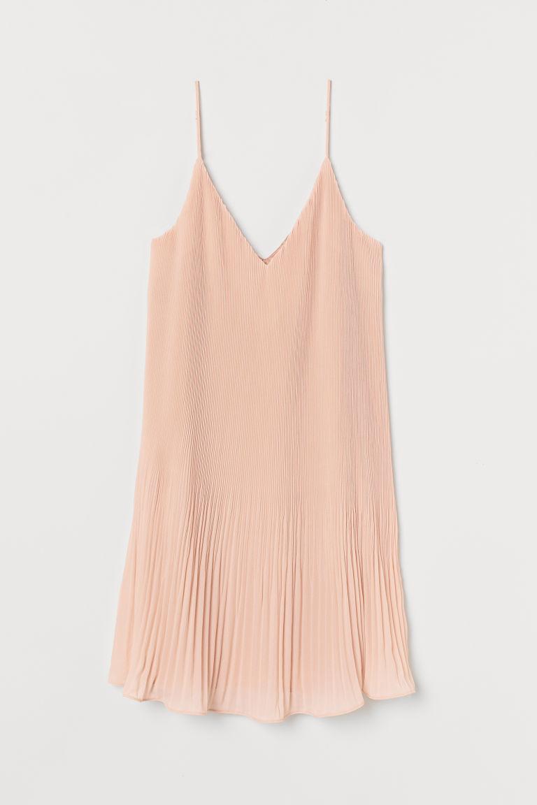 H & M - 雪紡百褶洋裝 - 橙色