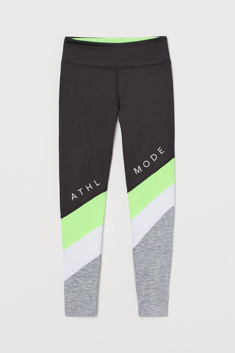 H & M - 緊身運動褲 - 綠色