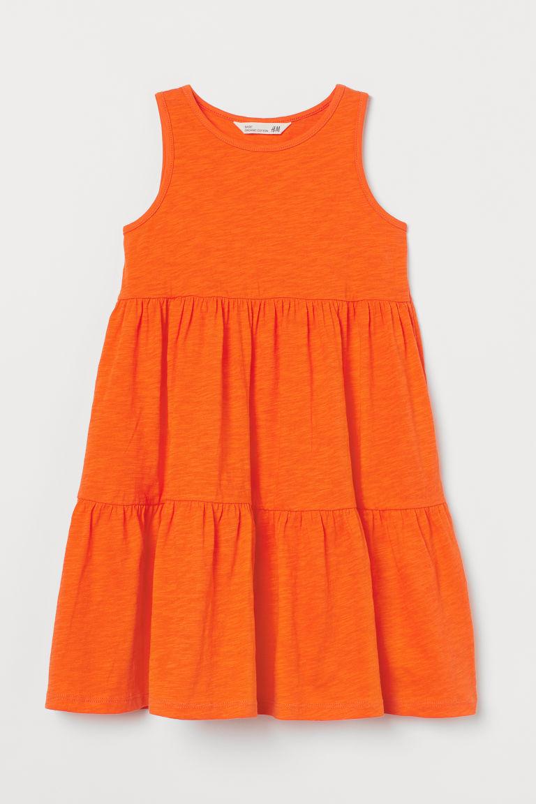 H & M - 平紋洋裝 - 橙色