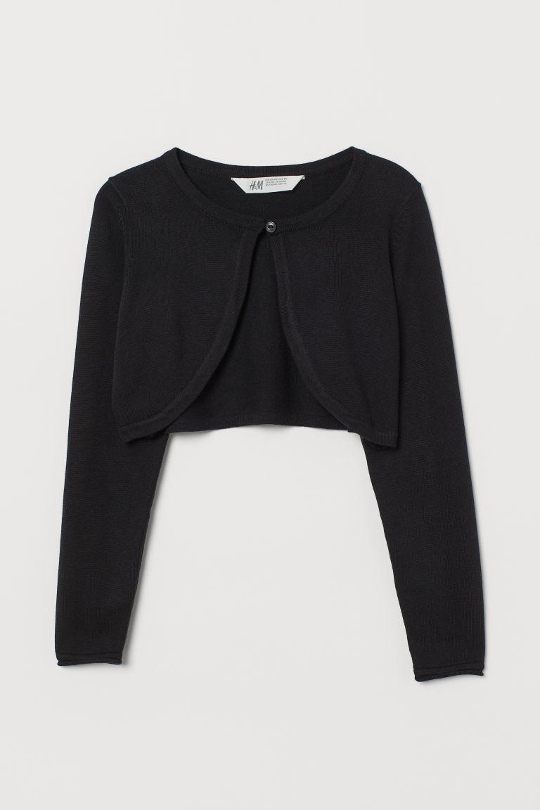 H & M - 棉質精織小外套 - 黑色