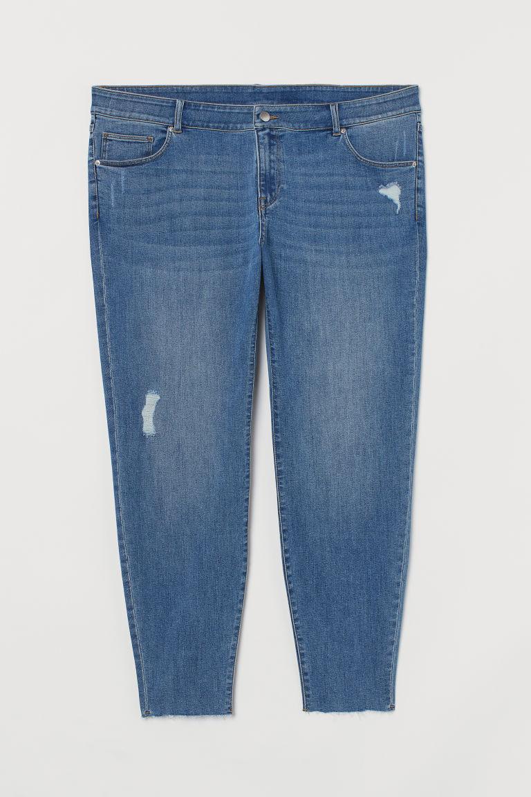 H & M - H & M+ 窄管九分牛仔褲 - 藍色