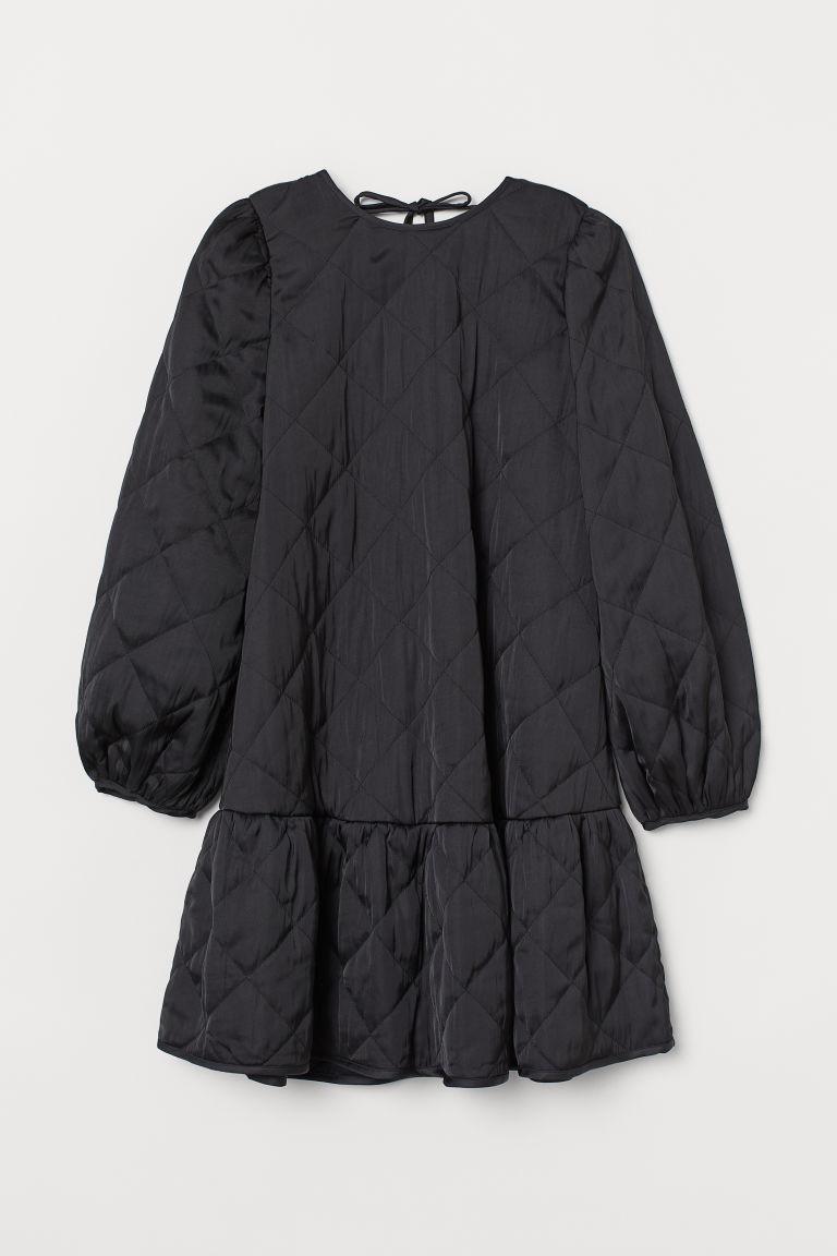 H & M - 車棉洋裝 - 黑色