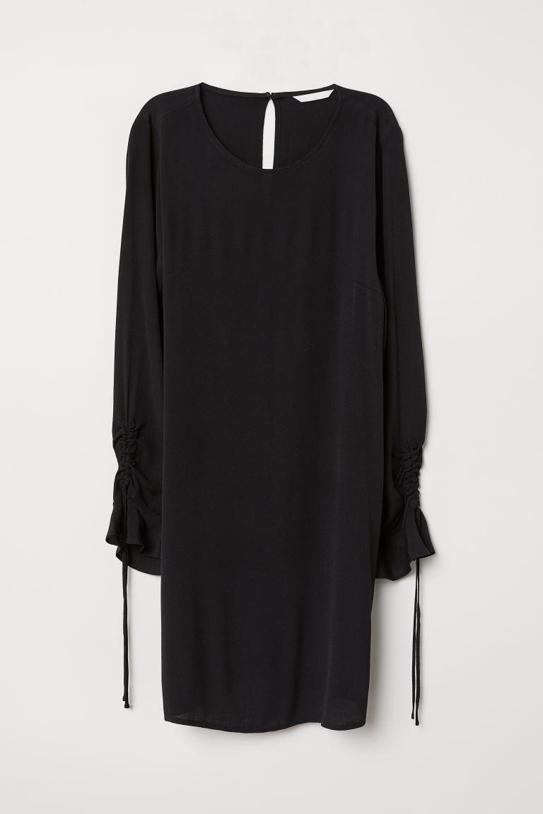 H & M - 荷葉袖洋裝 - 黑色