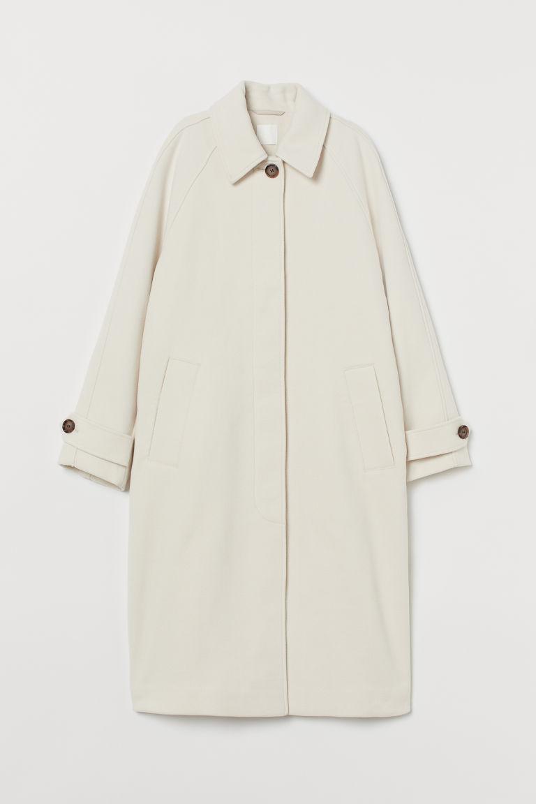 H & M - 大衣 - 米黃色