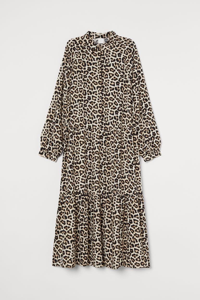 H & M - 有領洋裝 - 米黃色