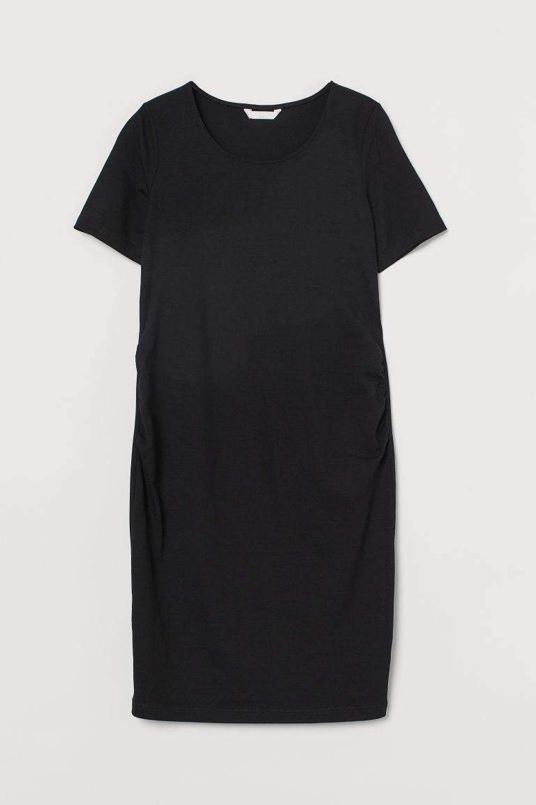 H & M - MAMA 棉質洋裝 - 黑色