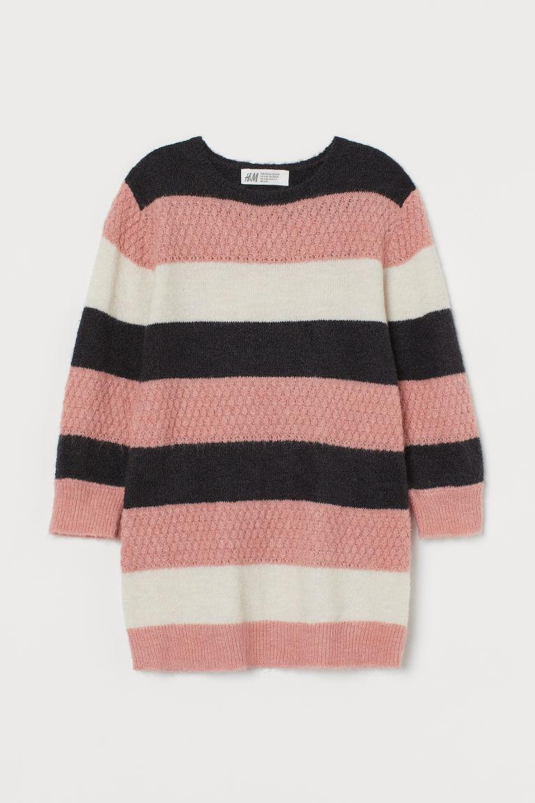 H & M - 針織洋裝 - 灰色