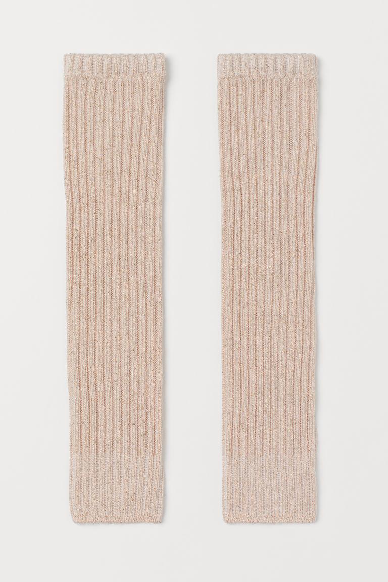 H & M - 金蔥保暖襪套 - 粉紅色